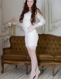 Only the real women with sensual nature knows how to show the glamour through embrace of lace and body shape.