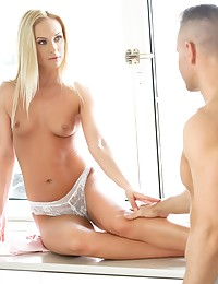 Beautiful blonde Vinna Reed loves doing it in the morning. She likes arousing her man with her sexy feet, feeling his manhood on her toes as it hardens and becomes ready to take her. Toby bends her over the kitchen counter and pushes himself balls deep inside her tight pussy before delivering an orgasm she won't soon forget!