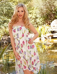 Sophia Knight doesn't hesitate to strip out of her clothes outdoors