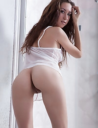 Amazing long haired brunette with super elastic body shows the precious parts of her lovely fresh body. Worth of watching.