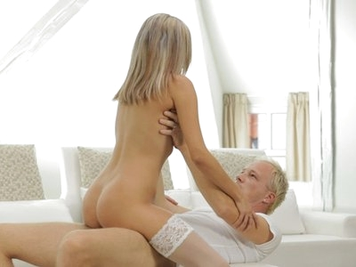 Join beautiful tanned Tracy as she rocks her mans world with sheer lingerie and a long hard fuck in her juicy bald pussy