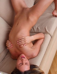 Images bombard her while her fingers are inside her tight pussy to grant herself a hot orgasmic experience.
