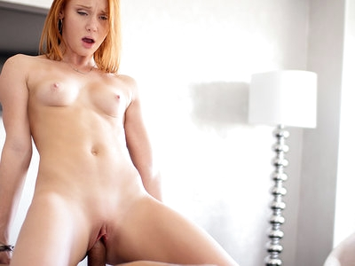 Cute Redhead Alex Tanner wakes up with an urge to masturbate and fuck.